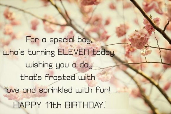 birthday messages for eleven year old