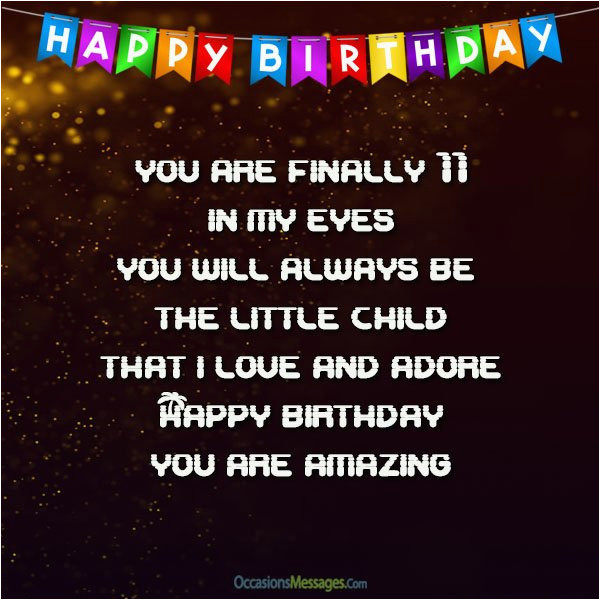 11th birthday wishes quotes