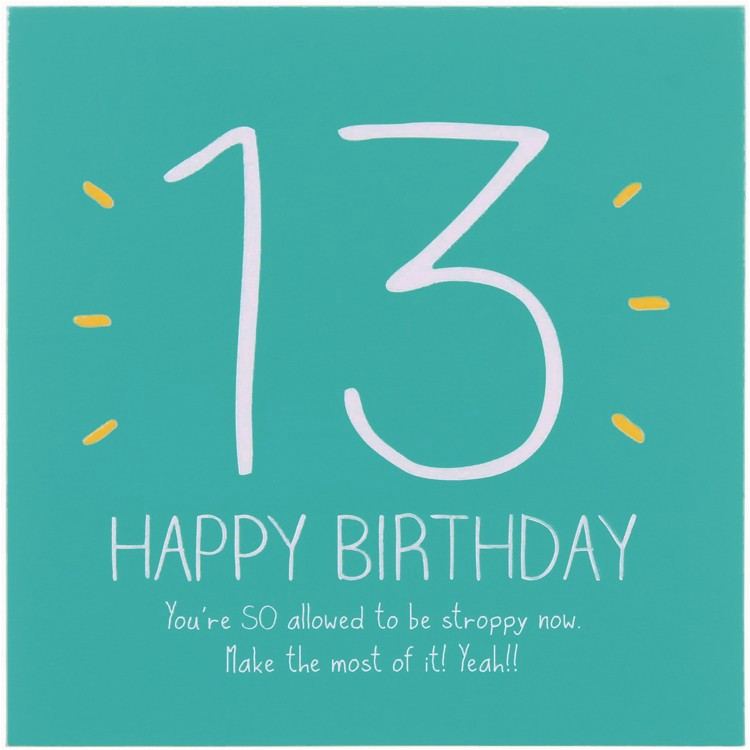 funny quotes happy 13th birthday