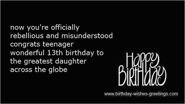daughter quotes happy 13th birthday