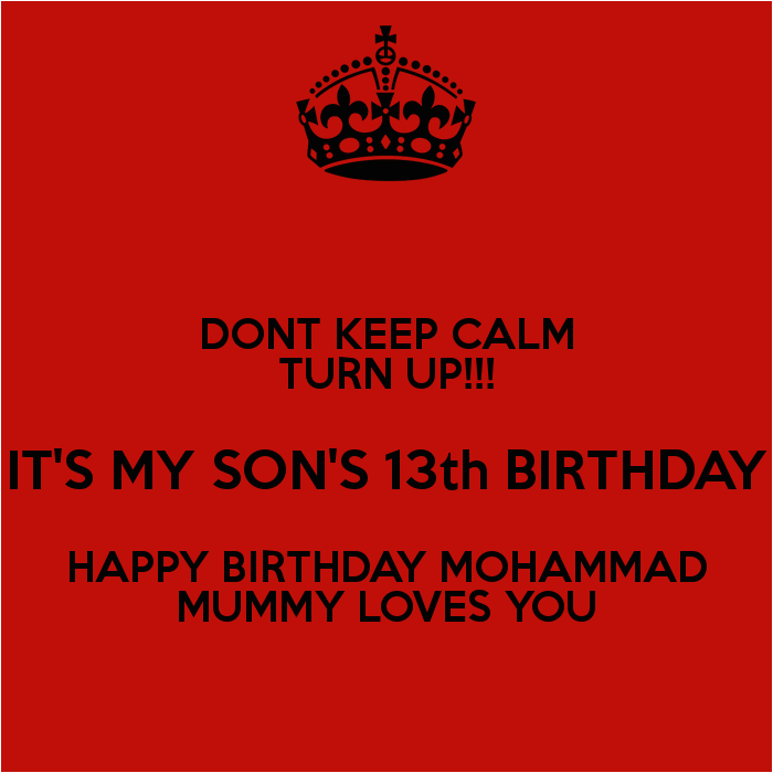 Happy 13th Birthday to My son Quotes Happy 13th Birthday son Quotes Quotesgram