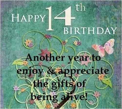 happy 14th birthday quotes