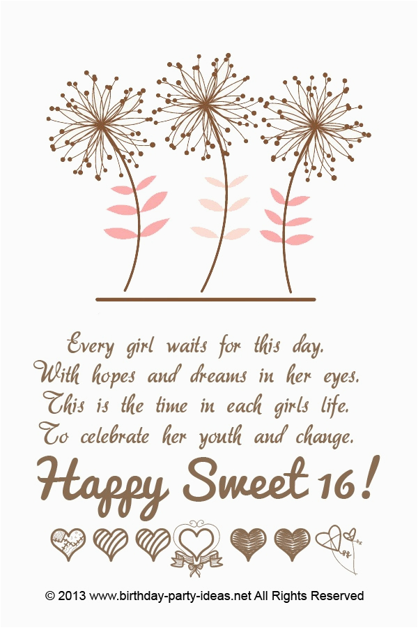 16th birthday quotes for girls