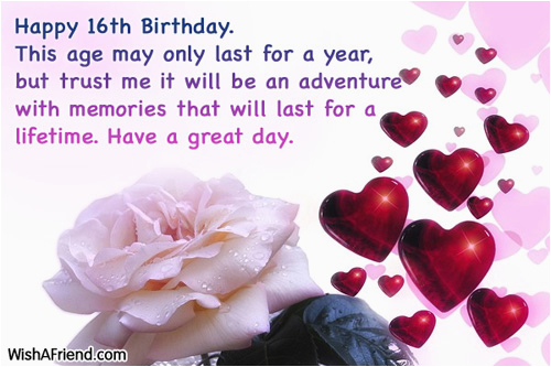 16th birthday quotes for birthday