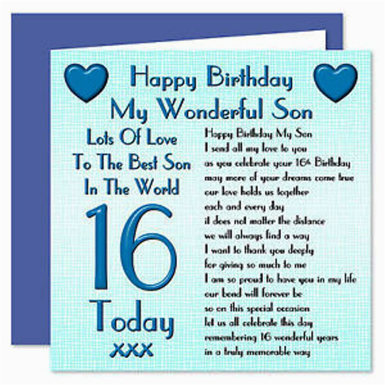 sixteen birthday wishes for son