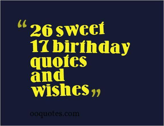 happy 17 birthday quotes
