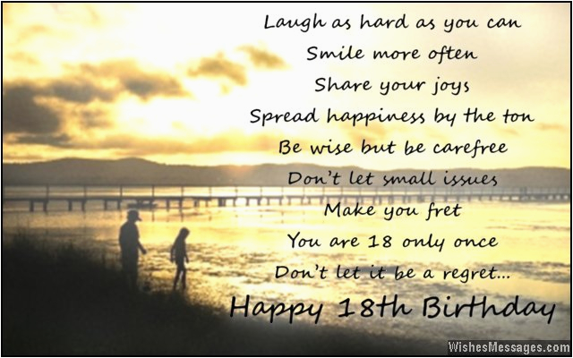 18th birthday wishes for son or daughter 18th birthday wishes from parents to children