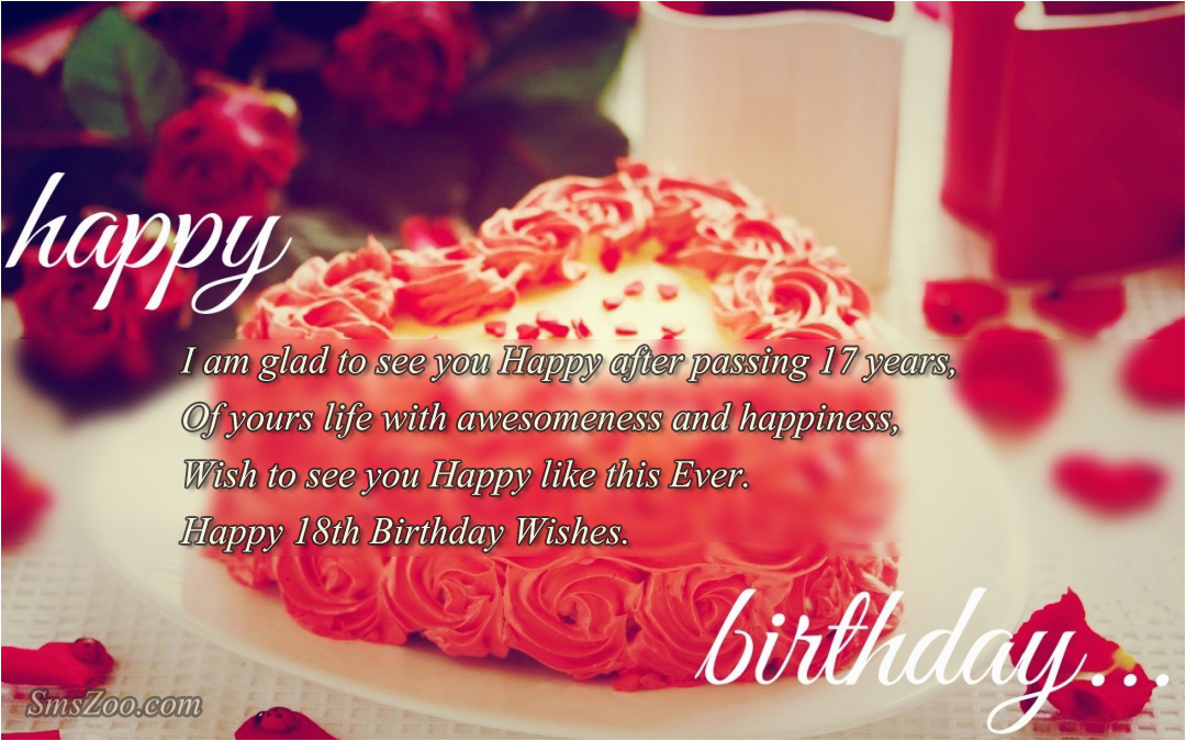 18th birthday wishes for friends