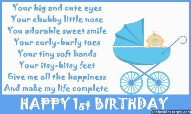 1st birthday poems happy first birthday poems