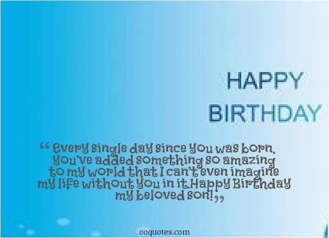 Happy 1st Birthday to My son Quotes Happy Birthday son Quotes Quotesgram