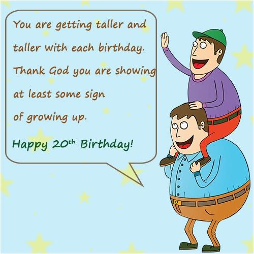 happy 20th birthday quotes