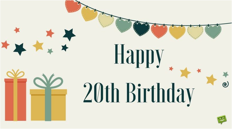 20th birthday wishes quotes for their special day