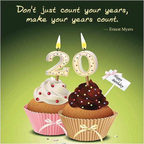 happy 20th birthday wishes quotes