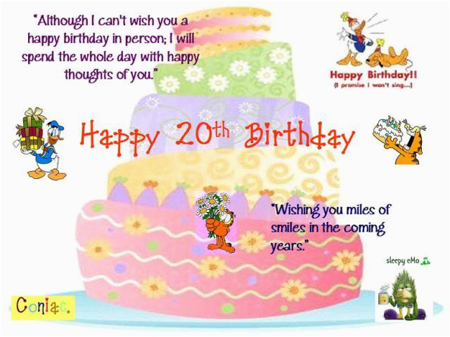 happy 20th birthday son quotes