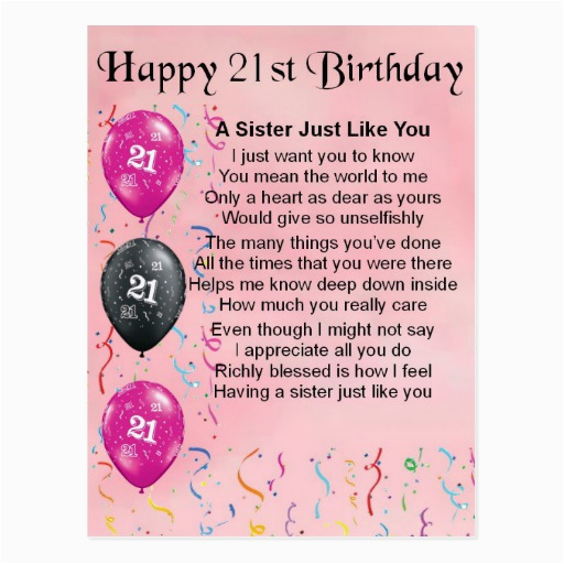 birthday poems for my daughter turning 21