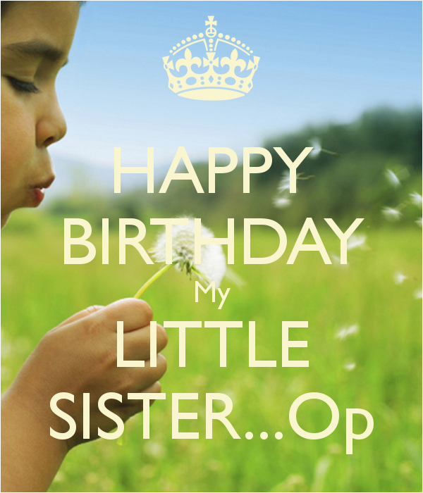 happy birthday little sister quotes