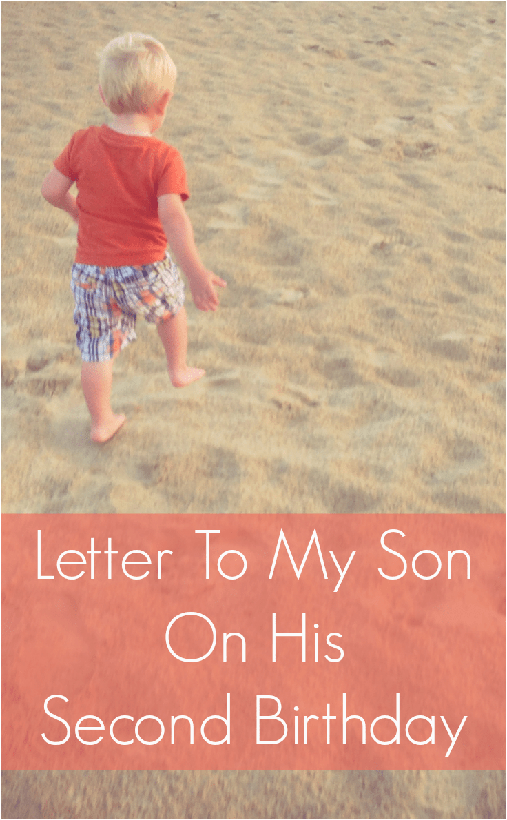 letter to my son second birthday