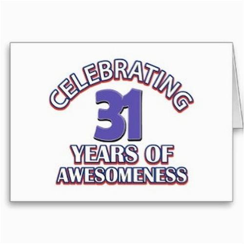 happy 31st birthday wishes