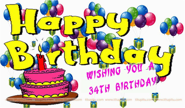 34th birthday wishes images and sms