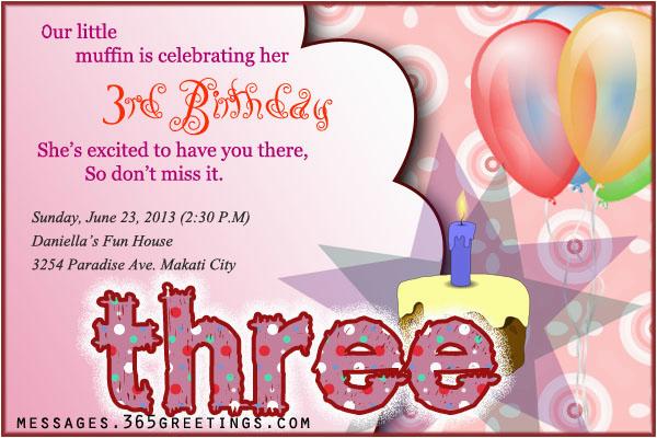3rd birthday invitations