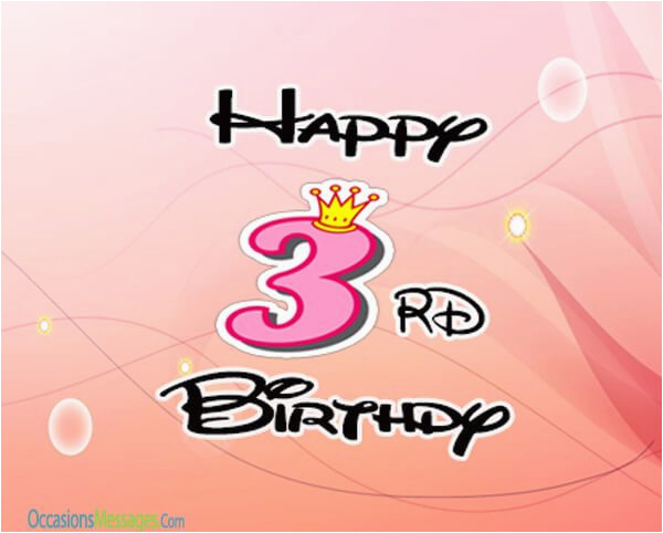 3rd birthday wishes and messages