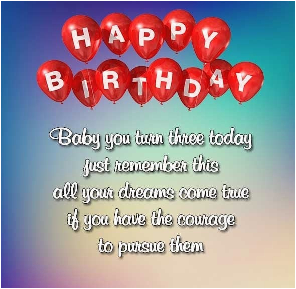 happy 3rd birthday wishes images quotes