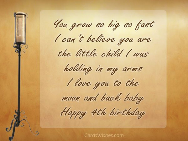 happy 4th birthday to my son message 4th birthday wishes
