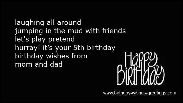 5 year old happy birthday quotes for girls