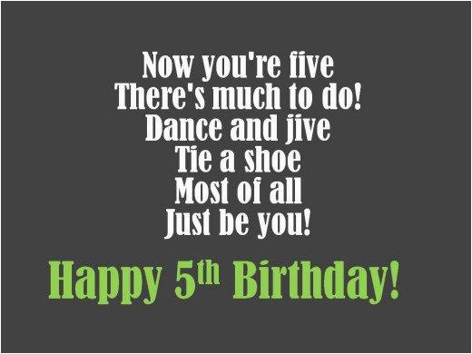 happy 5th birthday poem