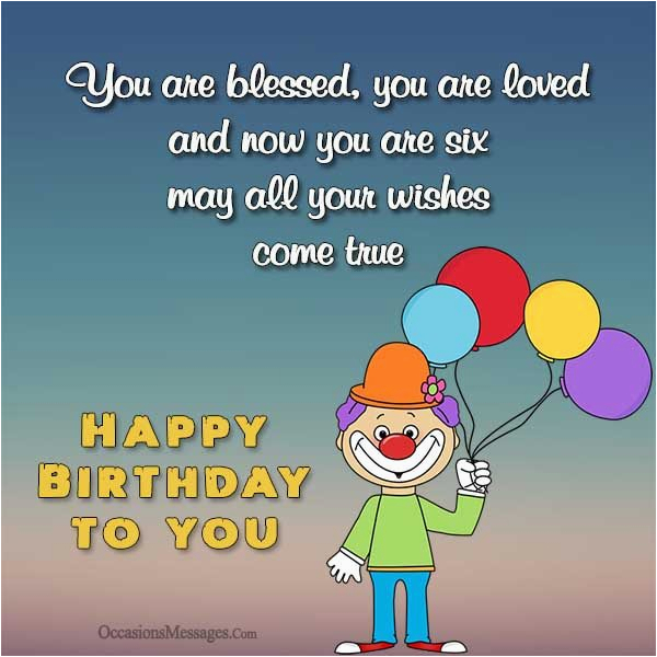 6th birthday wishes