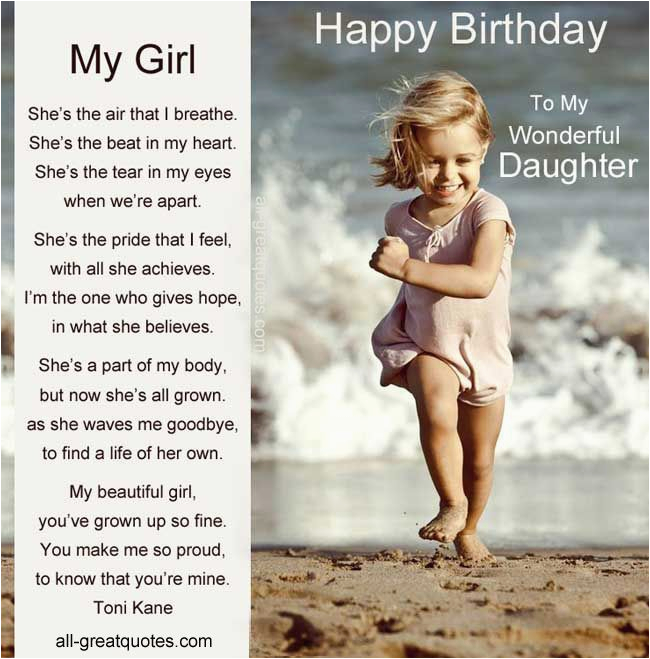 happy 7th birthday to my daughter poem happy 7th birthday with cute ballerina