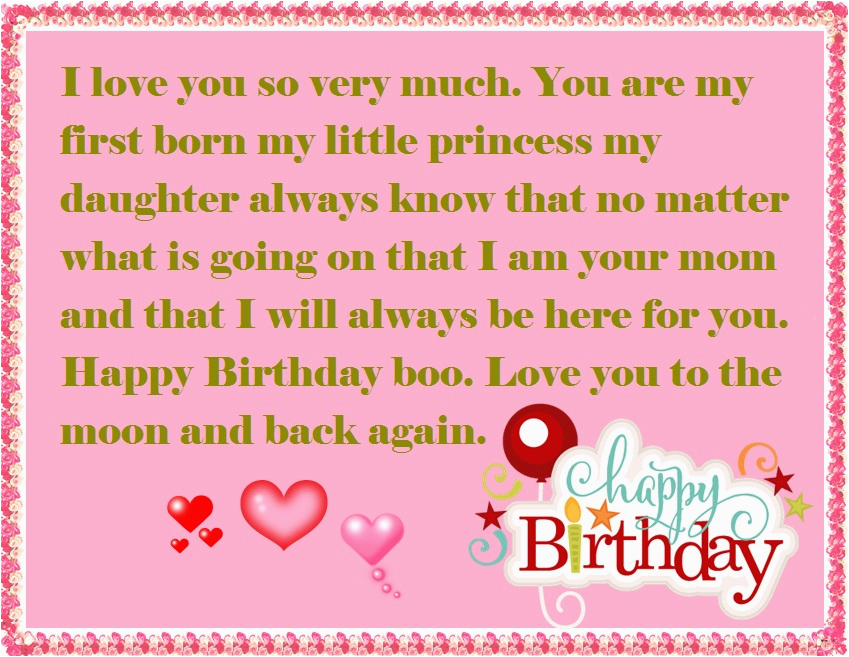 daughter birthday wishes