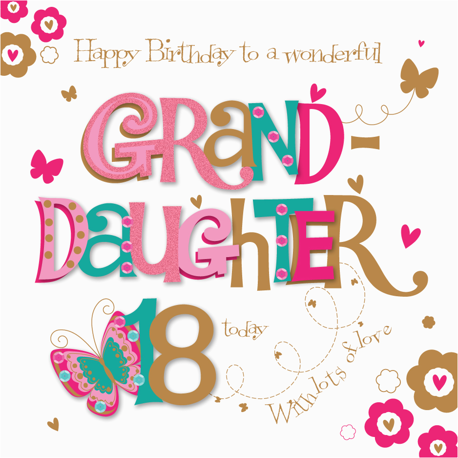 kctpmwer0001 granddaughter 18th birthday greeting card by talking pictures greetings cards