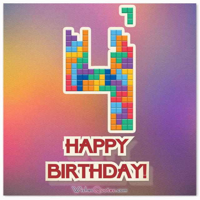 4th birthday wishes
