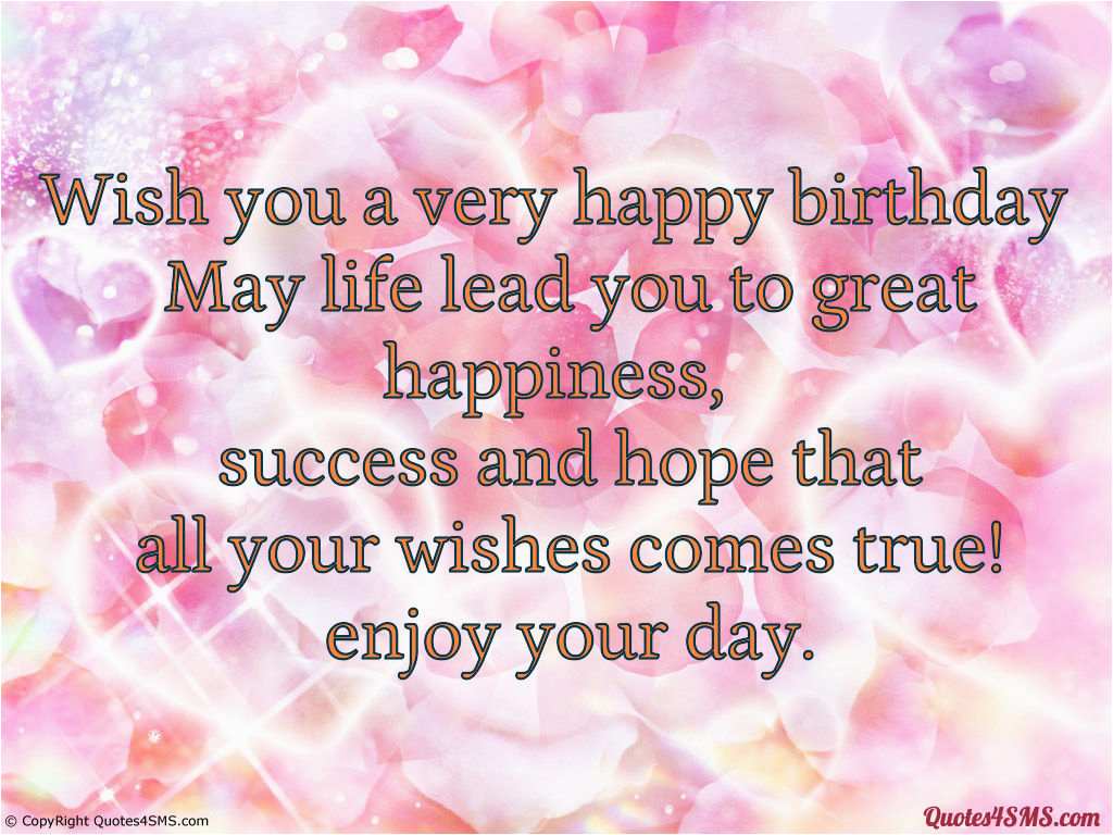 wish you a very happy birthday