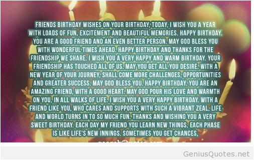 long happy birthday quote for friends