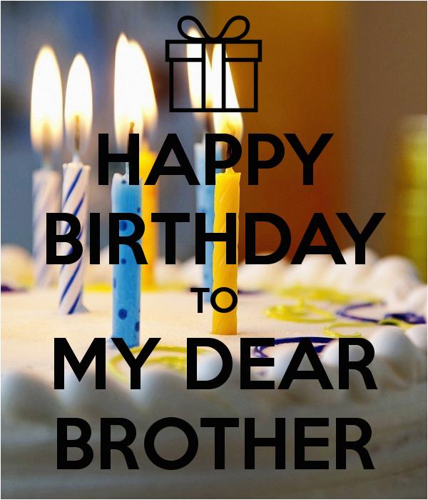 happy birthday to my dear brother