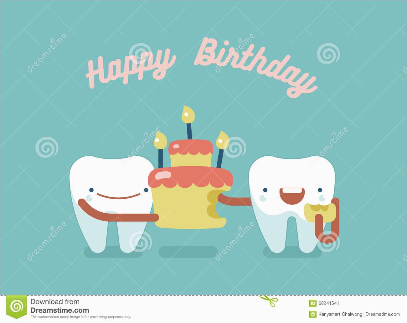 stock illustration happy birthday dental concept design image68241541