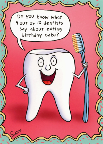 cd11455 tooth holding toothbrush funny birthday card oatmeal michael sieron