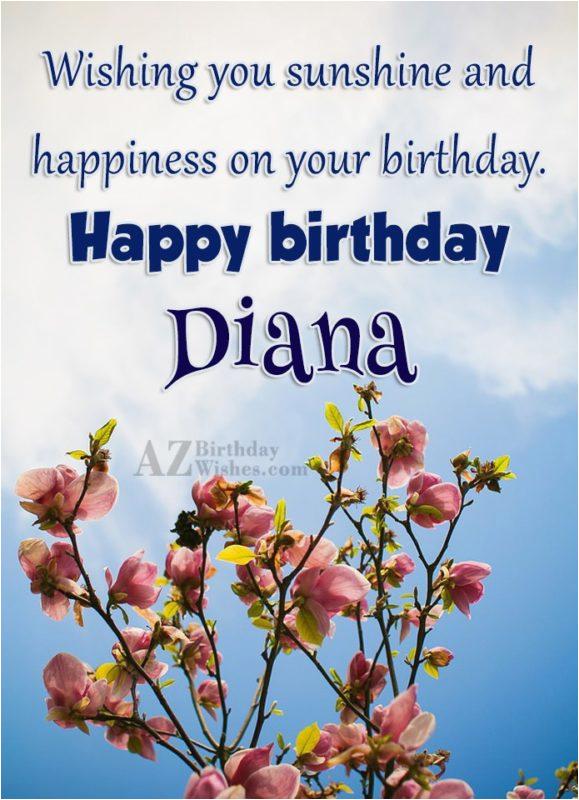 happy birthday diana