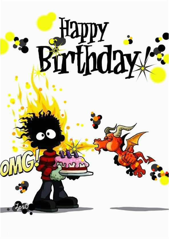 happy birthday clipart for him funny