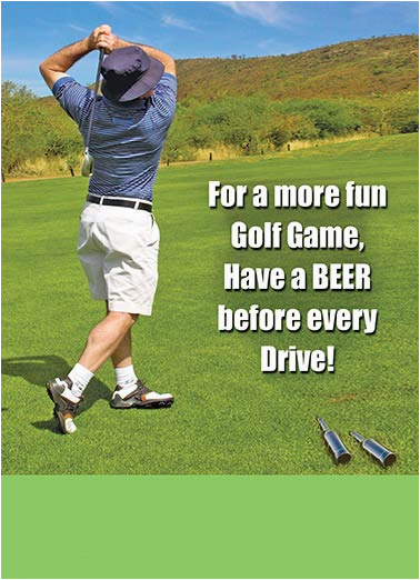 Happy Birthday Golf Quotes Funny Cards Drinking Cardfool Free Postage