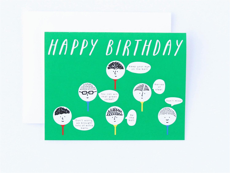 Happy Birthday Golf Quotes Card Funny Golfig