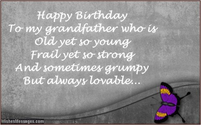 Happy Birthday Grandpa Quotes Poems Funny Grandpa and ...