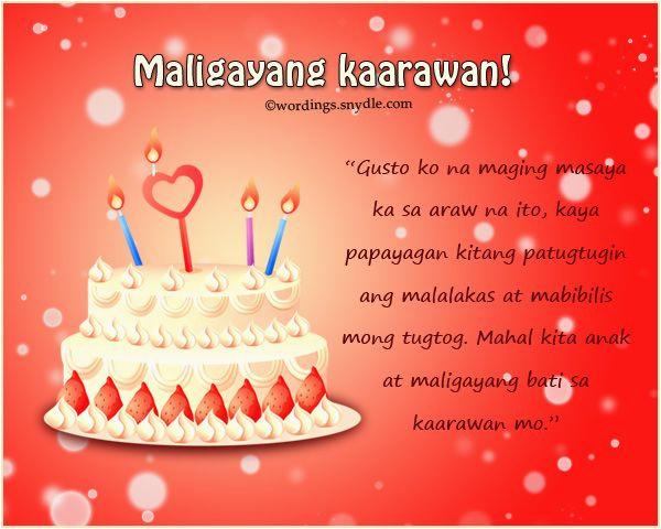birthday message tagalog