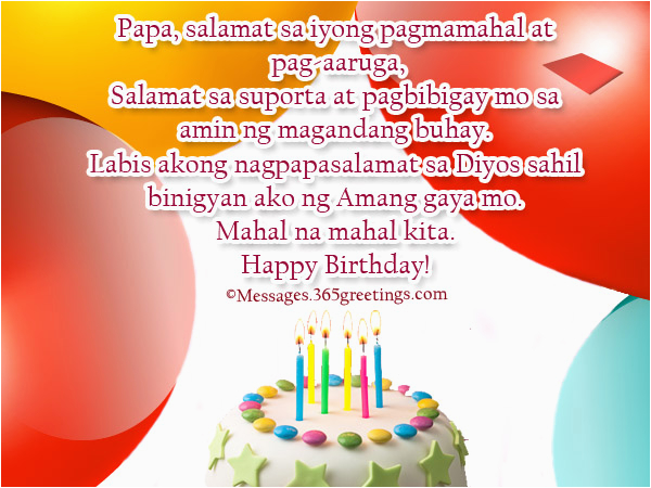 birthday greetings in tagalog for dad