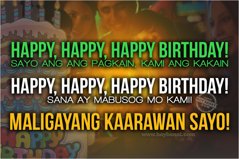 Happy Birthday Greetings Quotes Tagalog Tagalog Birthday Quotes Quotesgram
