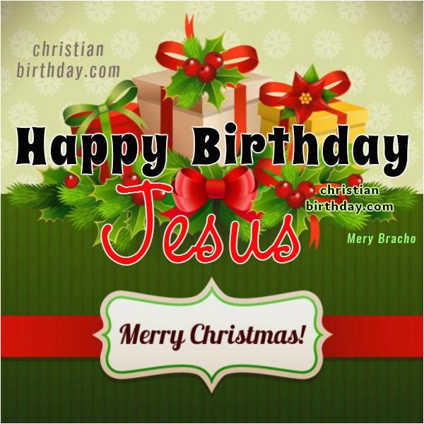 christian christmas card happy birthday