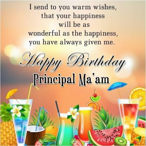 39 beautiful principal birthday greetings