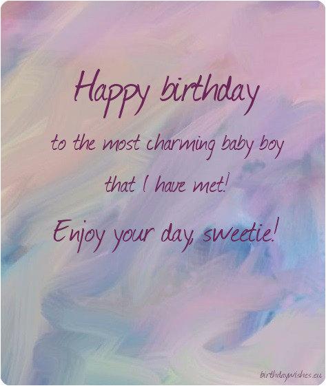 Happy Birthday My Little Boy Quotes Happy Birthday Little Boy top 25 Birthday Wishes for